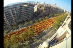 Espectacular 'time lapse' de la V de la Diada, en 27 segons - VilaWebCatalans want to vote 11 setembre 2014