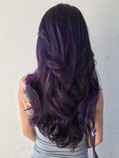 Image result for dark violet hair
