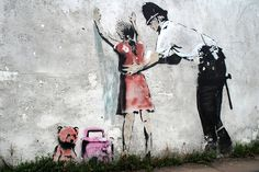Banksy canvas Frisk Street Art Grafitti by StreetArtonCanvas Banksy Graffiti, Street Art Banksy, Arte Banksy, Graffiti Books, Banksy Canvas, Bansky, Banksy Artwork, Diy Art, Les Fables