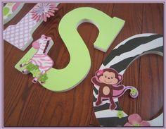 girl jungle nursery ideas | Jungle Jill. Safari Brights. Nursery wall Letters for Girl's Nursery ...