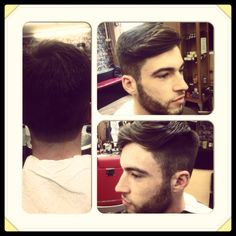 Side parting. Total separation and undercut.