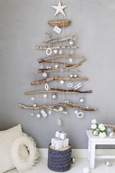 noel, christmas navidad – – 37 super easy diy christmas crafts ideas for kidslaser cut ornament wooden christmas tree ideawhat do your christmas decorations say about you Driftwood Christmas Tree, Coastal Christmas, Diy Christmas Tree, Christmas 2019, Simple Christmas, Christmas Holidays, Christmas Ornaments, Christmas Design, Driftwood Christmas Decorations
