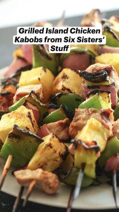Trim Healthy Recipes, Great Recipes, Favorite Recipes, Healthy Cooking, Healthy Eating, Cooking Recipes, Summer Grilling Recipes, Summer Recipes, Chicken Kabobs