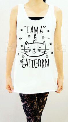 S M L  I Am A Caticorn Shirt Cat Shirt Unicorn Shirt by MoodCatz, $16.00