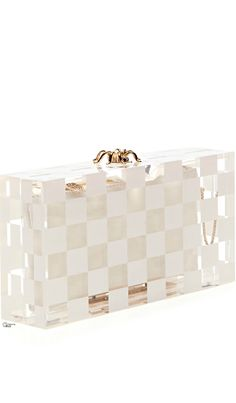 Charlotte Olympia ● SS 2014, Pandora Squared Perspex Clutch
