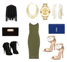 """""""Night on the town"""" by jessica-cooperman on Polyvore featuring Gianvito Rossi, Jimmy Choo, Yves Saint Laurent, Giuseppe Zanotti, BCBGMAXAZRIA and Movado"""