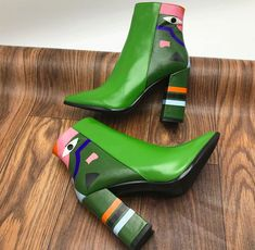 Leather Ankle Boots, Leather Heels, Ankle Booties, Heeled Boots, Comfortable Shoes, Casual Shoes, Fashion Shoes, Fashion Accessories, Funky Shoes