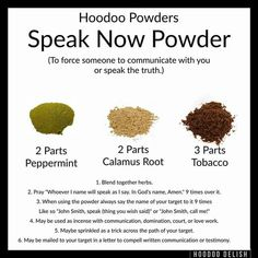 Hoodoo Speak Now Powder Hoodoo Spells, Magick Spells, Real Spells, Magick Book, Witchcraft Books, Gypsy Spells, Wiccan Witch, Money Spells, Candle Spells