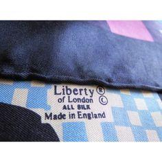seta, scarf, sciarpa, seidentuch, Liberty, Foulard Carré, en Soie