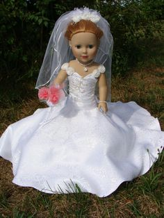 American Girl Bride with accessories by NormasSpecialDays on Etsy, $85.00