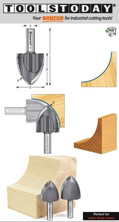 Large Radius Ovolo Create extra-large coves with your router. This bit is perfect for creating beautiful coves for furniture or architectural crown moldings. With this bit you can make large coves in any wood species that you want. You'll never need to purchase cove molding again! Carbide tipped Industrial Quality Can be used in CNC machines