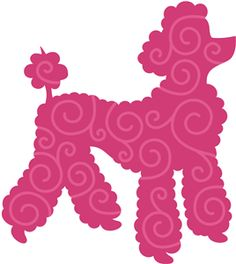 dog swirly poodle 12586----------------------I think I'm in love with this shape from the Silhouette Online Store!