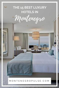 Find the perfect place to relax and recharge, soak up the sunshine and feel pampered at these luxury hotels in Montenegro. Luxury Hotels, Perfect Place, Sunshine, Relax, Bed, Places, Travel, Furniture, Viajes