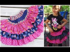 (1) How to sew a ruffle skirt - YouTube
