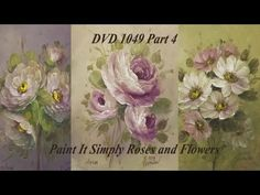 Speed Painting - Iris Flowers - Acrylic Painting Techniques - YouTube