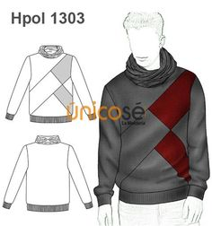 POLERON CUELLO RECOGIDO Fashion Illustration Sketches, Fashion Sketches, Polo Shirt Design, Bodybuilding Clothing, Track Suit Men, Shirt Template, Mens Joggers, Clothing Patterns, Lacoste