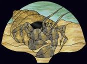 Stained Glass Pattern Fanlamp-Hermit Crab