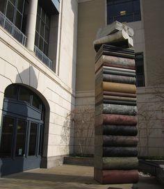 Nashville Public Library book statue