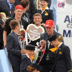 Bayern München back from winning UEFA Champion League