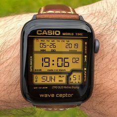Casio Vintage Watch, Casio Watch, Vintage Watches, Apple Watch Clock Faces, Apple Watch Custom Faces, Apple Watch Faces Download, Digital Watch Face, Bracelet Sport, Tactical Watch