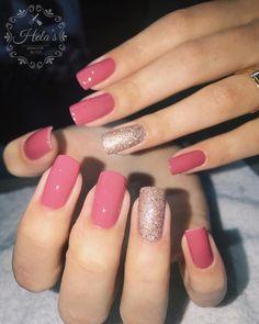 Nails colors shellac summer 65 New ideas - Hair Styles Elegant Nails, Stylish Nails, Trendy Nails, Shellac Nail Colors, Pink Nails, Gold Nails, Hair And Nails, My Nails, Nagellack Design