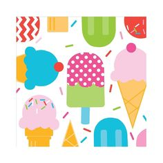 Amazon.com: Ice Cream Party Beverage Napkins: Toys & Games