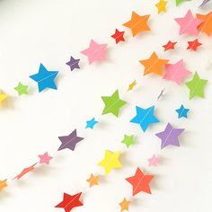 Rainbow Star Paper Garland