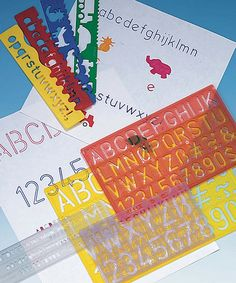 Look at this #zulilyfind! Multicolor Lettering Guide Stencil - Set of Four by S&S Worldwide #zulilyfinds