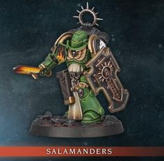Warhammer 40k Salamanders, Salamanders Space Marines, Warhammer 40k Art, Warhammer 40k Miniatures, Games Workshop Paints, Necron Warriors, Pistol Holster, Dark Angels, Wargaming Terrain