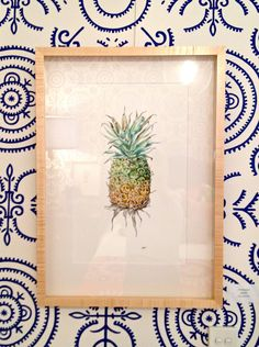 The PIneapple - by Pip Boydell    i'm obsessed with pip. and this wallpaper by Anna Spiro. I will use Pip's paintings in a nursery one day.
