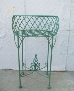Wrought Iron Planter Urn With Twist Metal Planters Garden Plant Stand