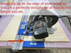 Workshop fav:  Kreg rip cut & setting up insulation to keep the cut wood from dropping off!