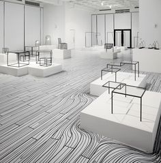 Nendo Exhibition - floor pattern