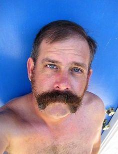 All men should have bushy mustaches. Moustache, Beard No Mustache, Beard Suit, Sexy Beard, Face Profile, Daddy Bear, Awesome Beards, Bear Men, Beards
