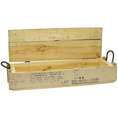 WOOD AMMO BOX