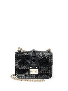 Valentino - Rocklock Mini Embellished Camouflage Crossbody Bag