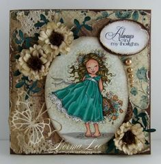 From My Craft Room: Always In My Thoughts - FFFC #106 Vintage. Mo Manning stamp