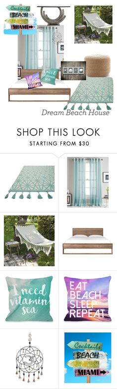 """beach please"" by witteankia ❤ liked on Polyvore featuring interior, interiors, interior design, home, home decor, interior decorating, Loloi Rugs, DKNY and One Bella Casa"