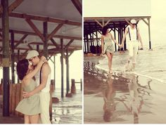 I love everything about this #vintage beach wedding shoot!!!!