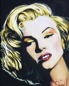 Marilyn Monroe Original Acrylic Portrait by Adam Valentino Painting Prints, Art Prints, Marilyn Monroe Art, Canvas Frame, Art For Sale, Art Boards, Valentino, My Arts, Art Art
