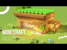 [Minecraft] How to make an easy chicken coop(Tutorial) Minecraft Japanese House, Casa Medieval Minecraft, Easy Minecraft Houses, Minecraft Room, Minecraft Plans, Minecraft Survival, Minecraft Decorations, Minecraft Tutorial, Minecraft Blueprints