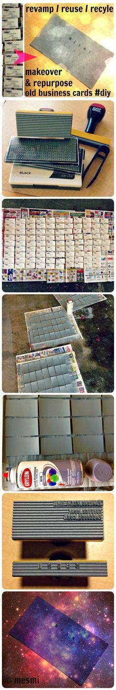 Reusing old business cards   ecogreenlove