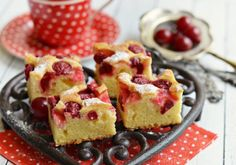 Raspberry & Coconut Slice ('icing sugar' is powdered sugar for you Americans Just Desserts, Delicious Desserts, Yummy Food, Eat Dessert First, Dessert Bars, Raspberry Coconut Slice, Sweet Recipes, Cake Recipes, Let Them Eat Cake