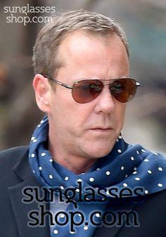 4b8a3b36d275 Kiefer Sutherland wears Jack Bauer s Serengeti sunglasses off screen –  CELEBRITIES sunglasses