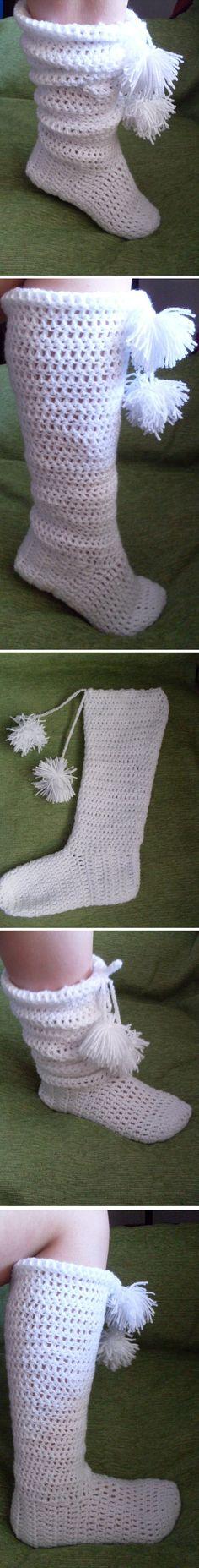Slipper Boots to crochet - *Inspiration*