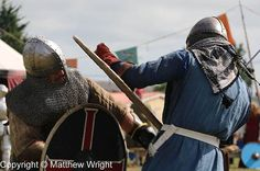 Real-life medieval cosplay combat action in Levin, New Zealand.