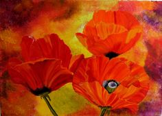 red poppies original oilpainting canvas 197 x 275 by Blumenmalerei, €85.00