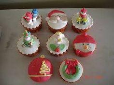Resultado de imagem para cupcakes natalinos