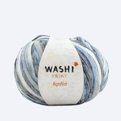 Washi is een dik garen van 70% polyester en 30% viscose. Met dit garen wordt het effect van leer nagebootst.