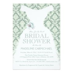 9300902025  bridal -  Bridal Dress Wedding Shower Card Dress Wedding